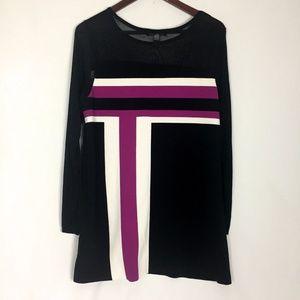 Mod Style Purple Black Size 0X XL Dress INC.